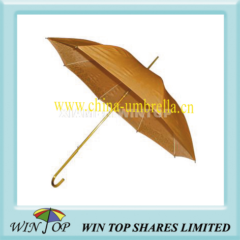 Auto straight aluminum golden color umbrella