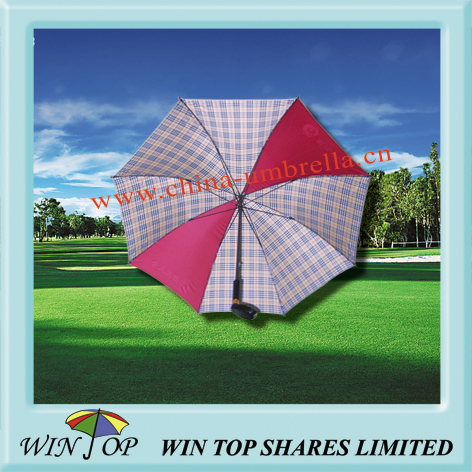 Uniquie golf umbrella with wooden golf head handle