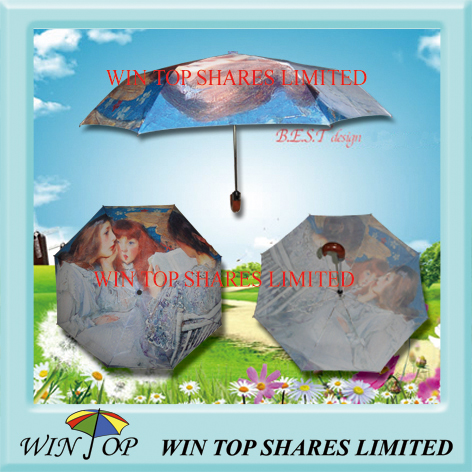 Impressionism digital printing umbrella