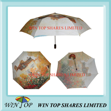 monet impressionism art umbrella