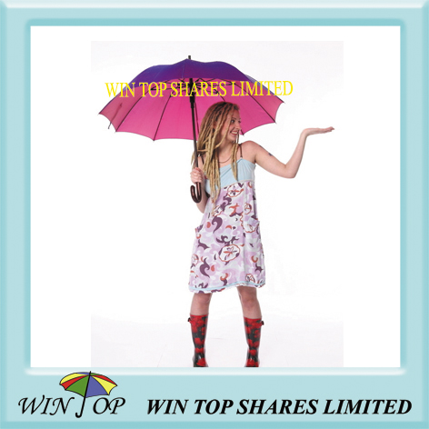 23 inch ladies wooden rain umbrella