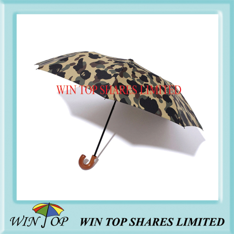 Camouflage design 3 folding umbrella