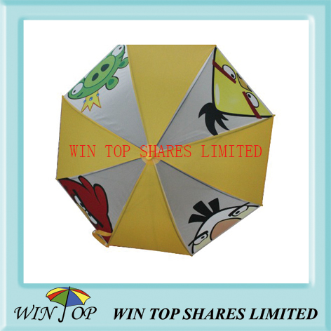 Angry bird children PVC umbrella