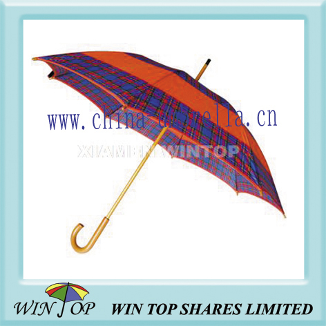 Auto Wooden polyester umbrella