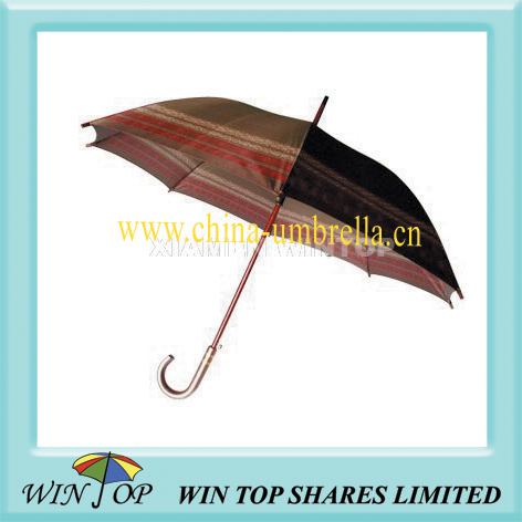 "23"" auto straight wooden umbrella and parasol"