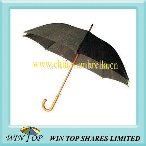 "23"" auto straight wooden TC umbrella"