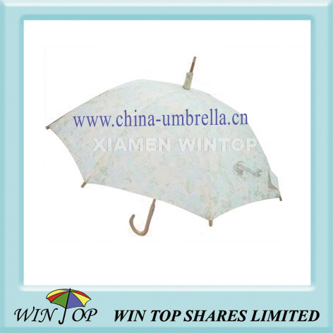 "23"" manual ladies cotton umbrella"