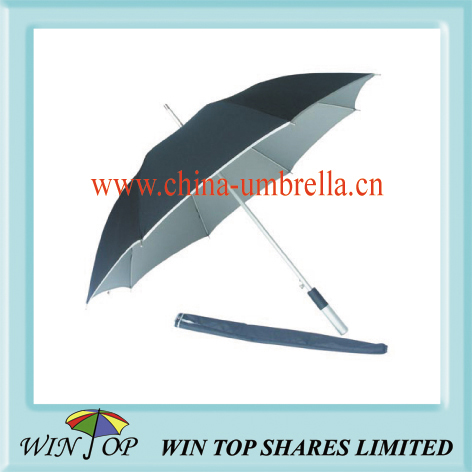 aluminum dark blue umbrella