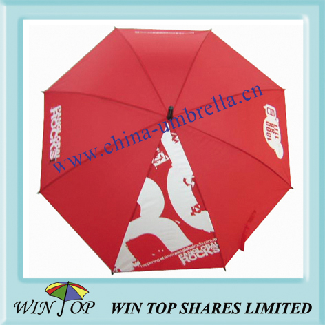 23 inch auto straight metal umbrella with logo