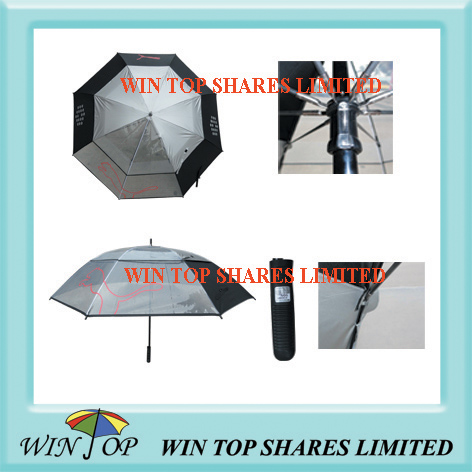 High quality PVC and pongee golf umbrella