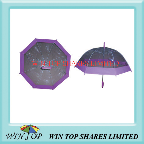 "21"" Pink and clear POE umbrella"